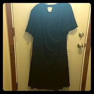 Black Dress, transparent bell cap sleeve